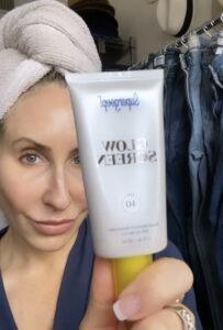 Step Three to dewy, glowing skin is Supergoop Glow Screen SPF 40
